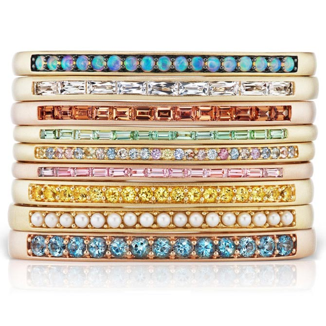 Jane Taylor pastel bangle assortment