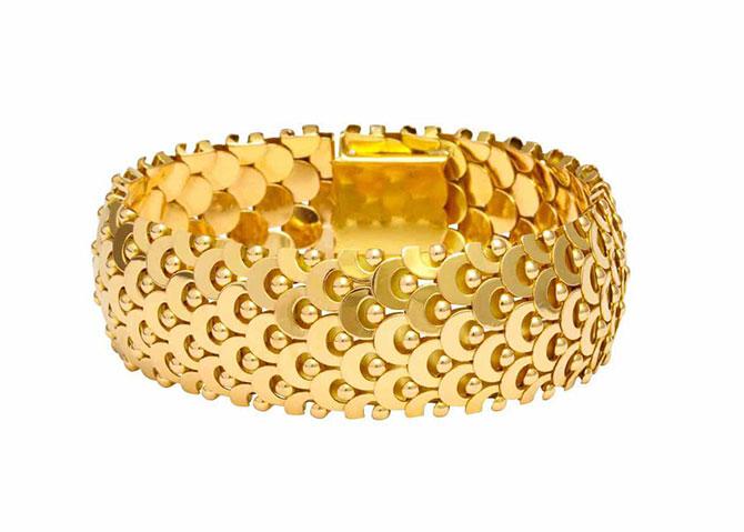 Boivin dimensional gold bracelet