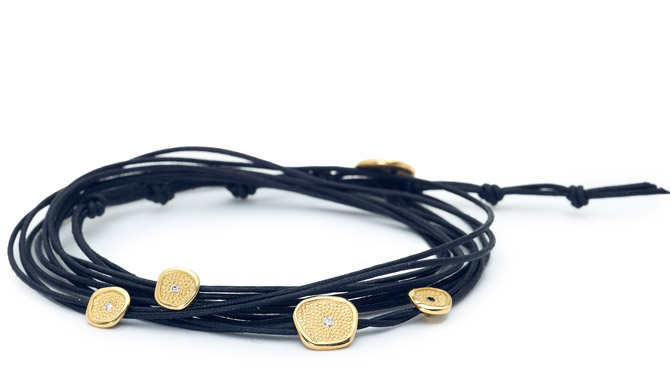 Anne Sportun Pebble wrap bracelet