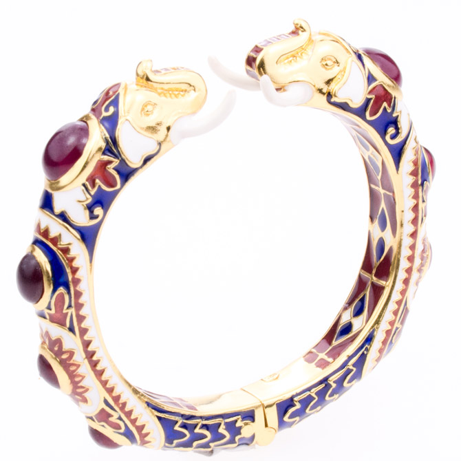 Hatai Jewelry elephant enamel bangle
