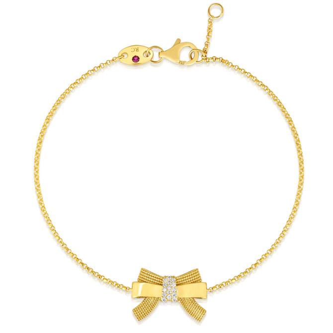 Roberto Coin Cinderella bow bracelet
