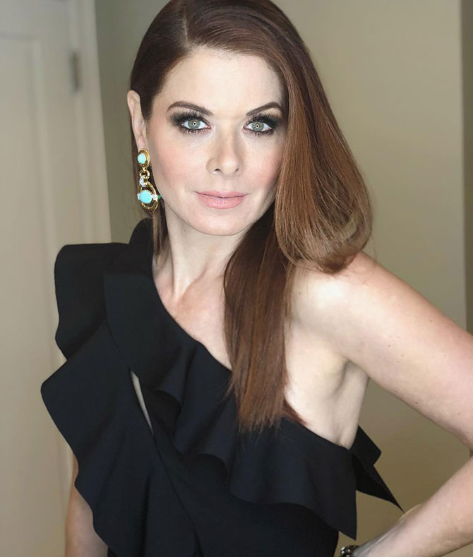 Debra Messing in David Webb at the GEM Awards