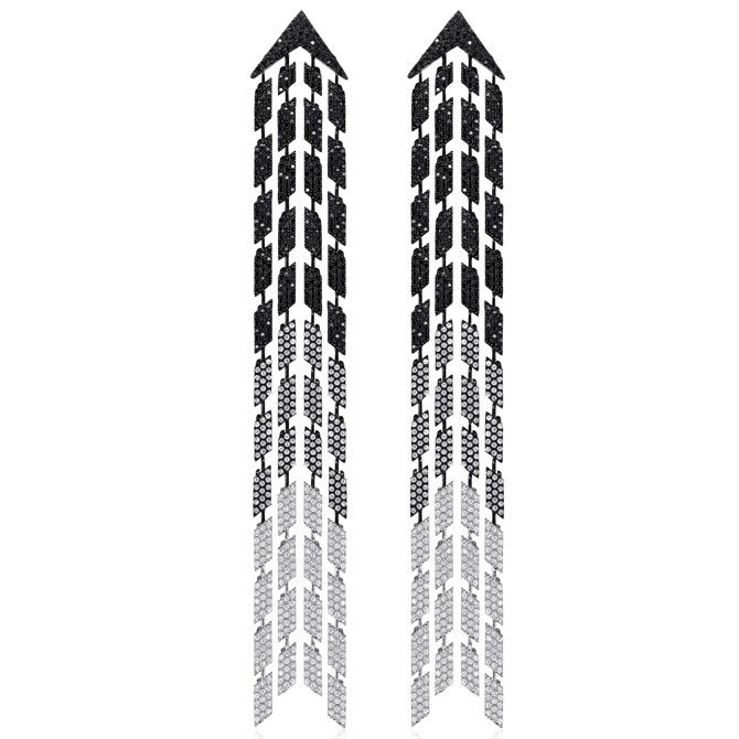 AS29 Cascade diamond earrings