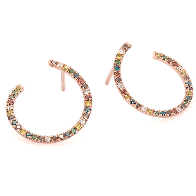 Facet Barcelona rainbow earrings
