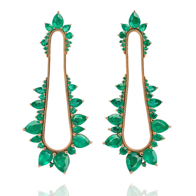 Fernando Jorge Electric Shock emerald earrings