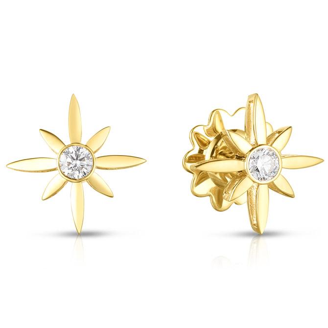 Roberto Coin x Disney Cinderella star earrings