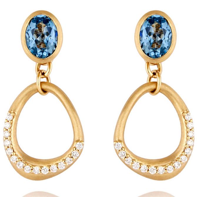 Lark & Berry Blue Dune earrings