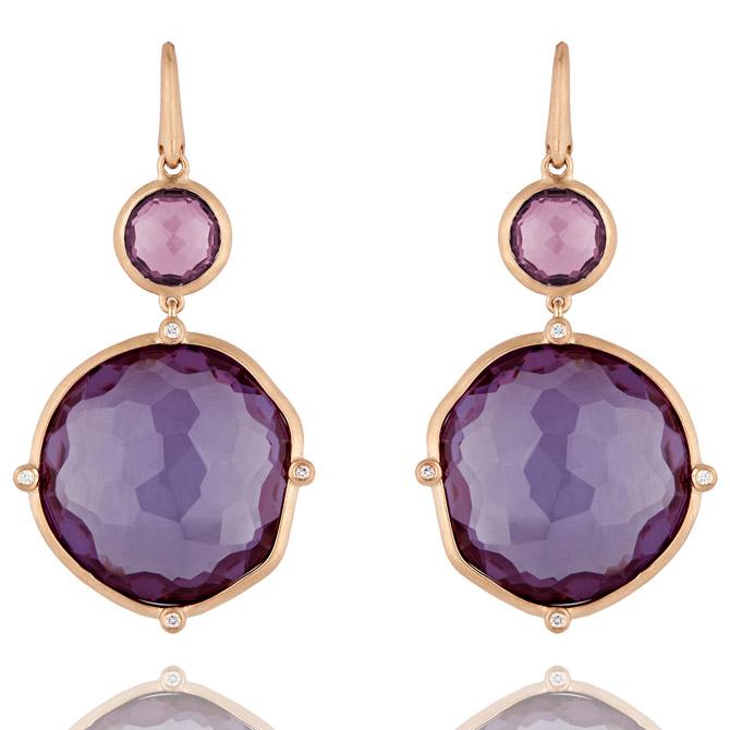 Lark & Berry purple sapphire Dune drop earrings