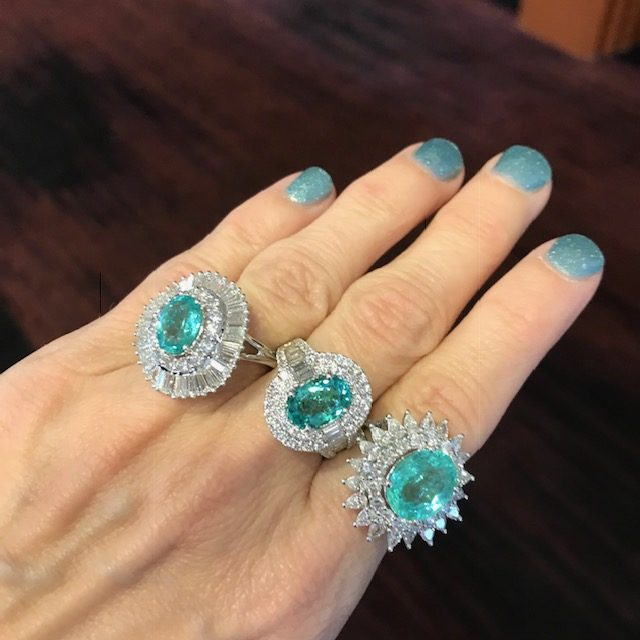 Effy Pariaba tourmaline rings