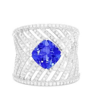 Effy diamond and tanzanite ring