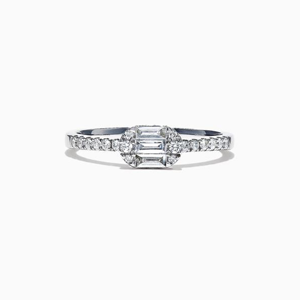 Effy east west diamond ring
