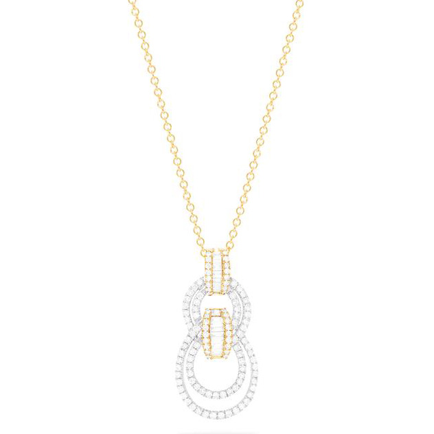 Effy two tone diamond pendant