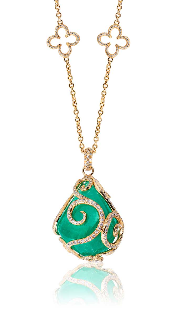 Erica Courtney Muzo emerald pendant