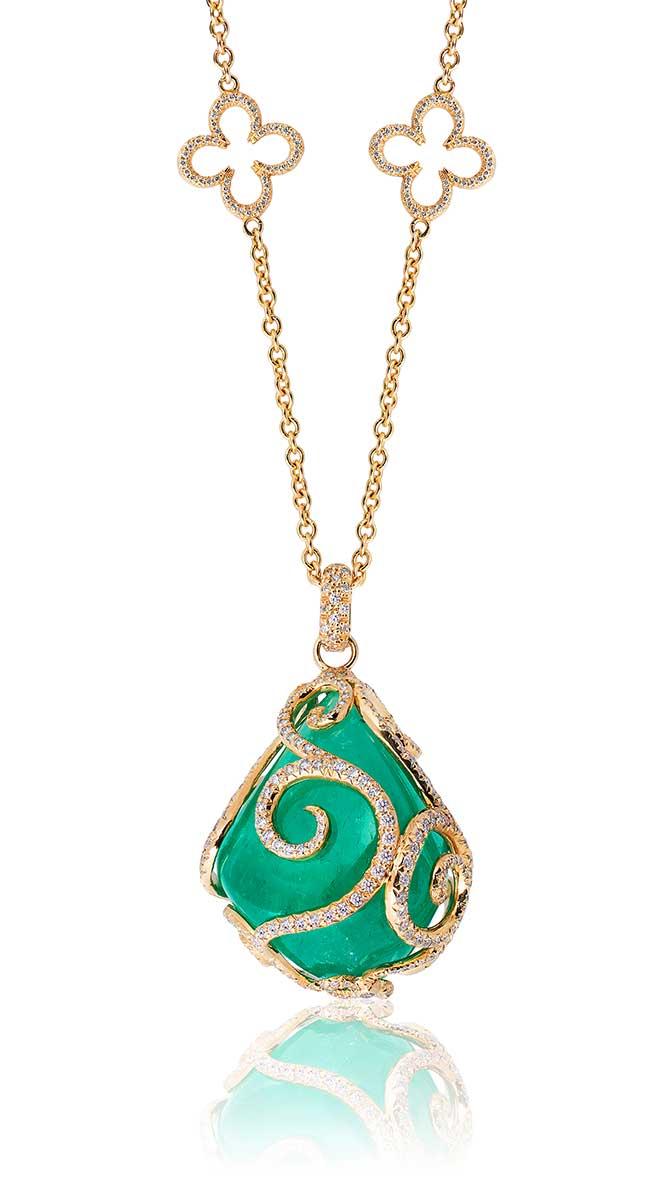 Erica Courtney Muzo emerald pendant
