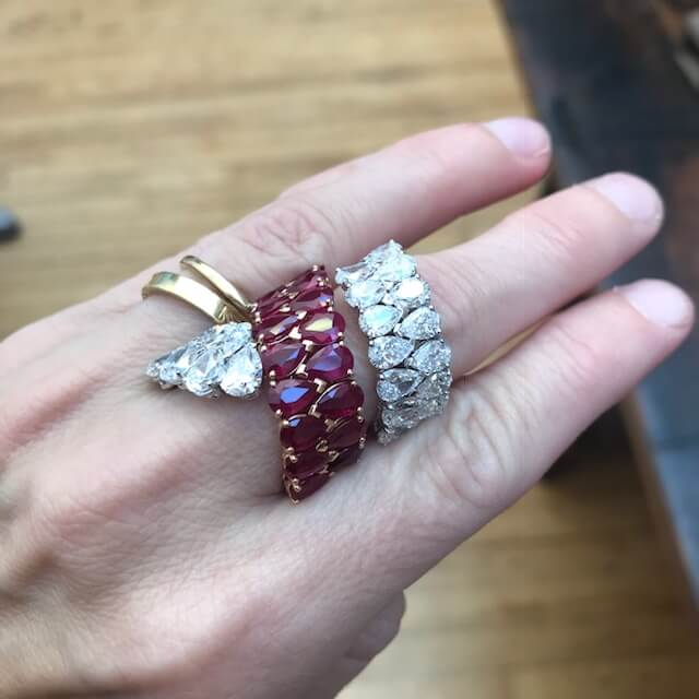 Etho Maria ruby and diamond ring