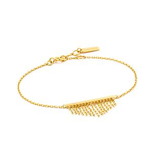 Fringe fall bracelet gold