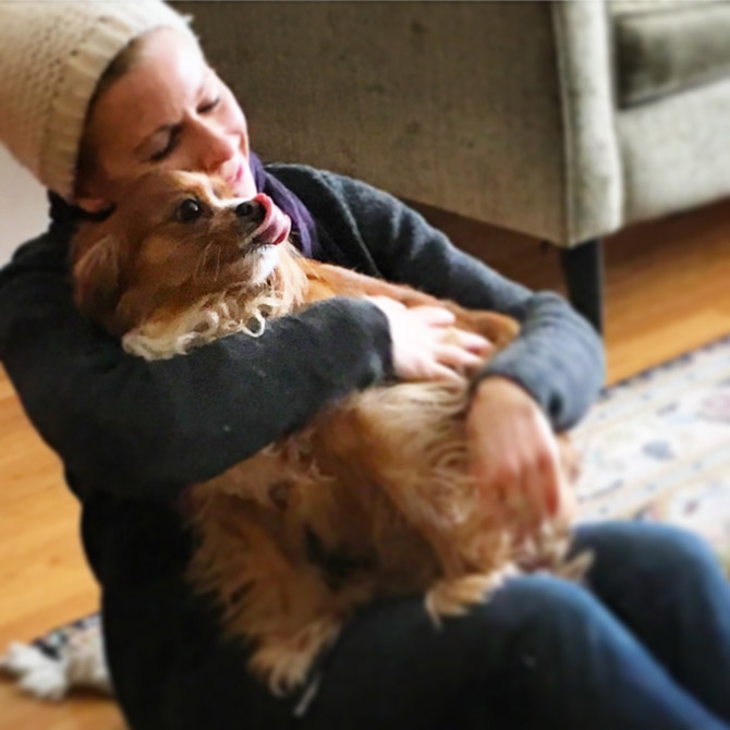 Judi Powers and dog