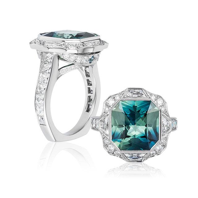 Lindsay Jane bicolor sapphire ring