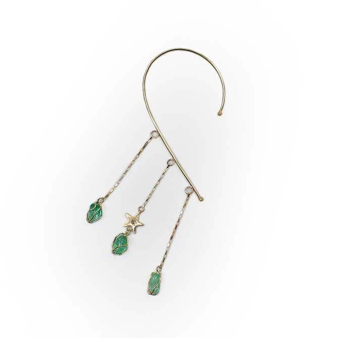Mercedes Salazar Muzo emerald earring
