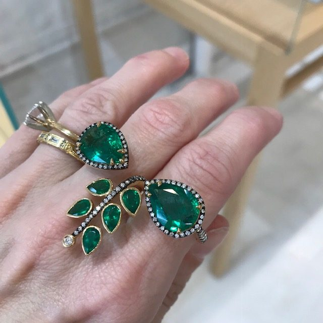 Misahara emerald ring