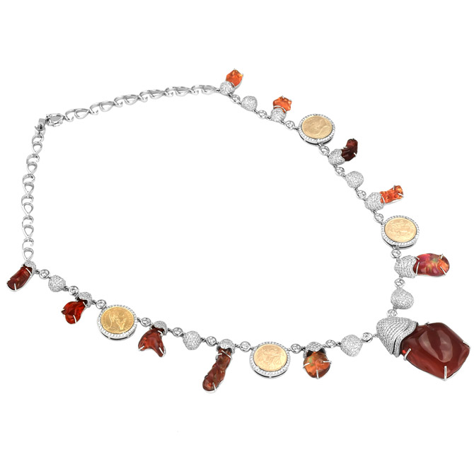 Eduardo Sanchez fire opal necklace