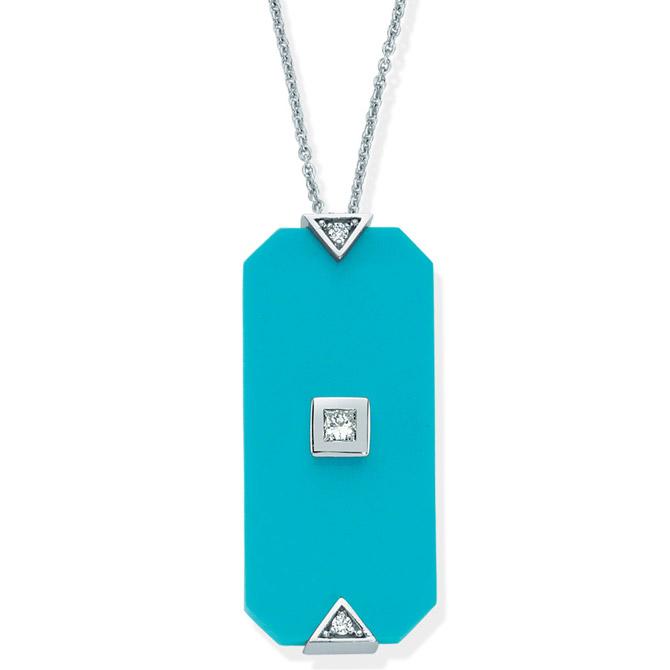 Melis Goral turquoise pendant
