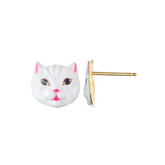 Nora Kogan cat earrings
