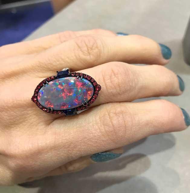 Omi Prive opal ring
