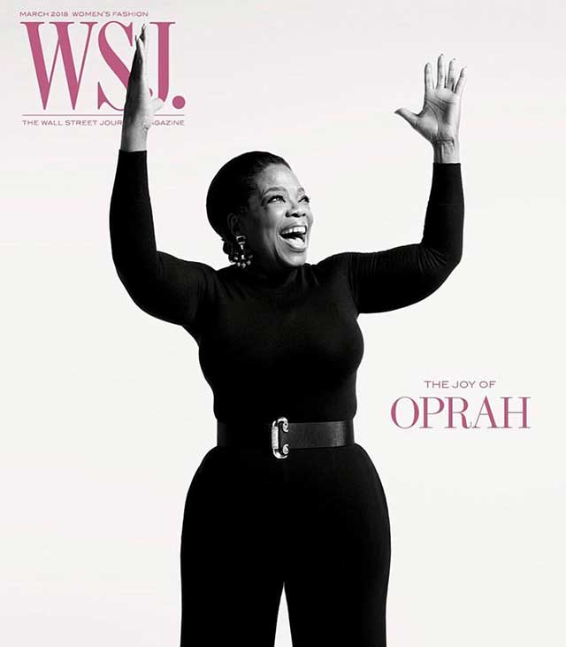 Oprah in David Webb on WSJ magazine
