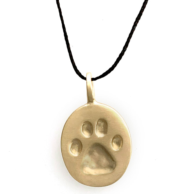 Judi Powers 10k Paw for a Cause pendant