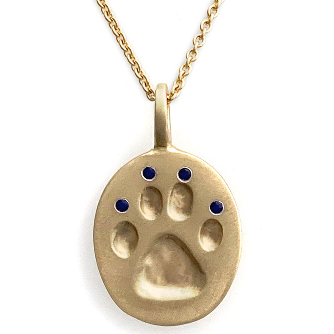 Judi Powers Paw for a Cause sapphire pendant
