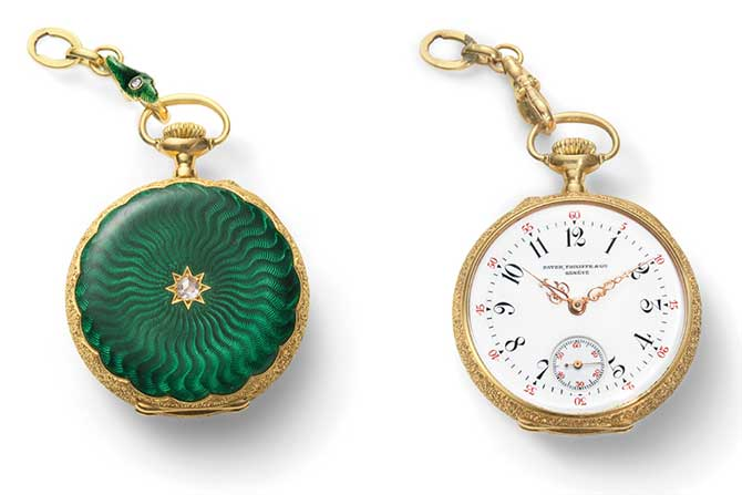 Phillips Auction Patek Philippe pocket watch