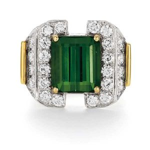Phillips auction Cartier tourmaline ring