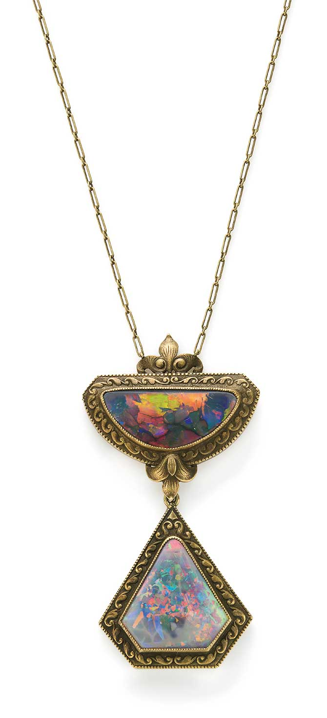 Phillips auction Tiffany opal necklace