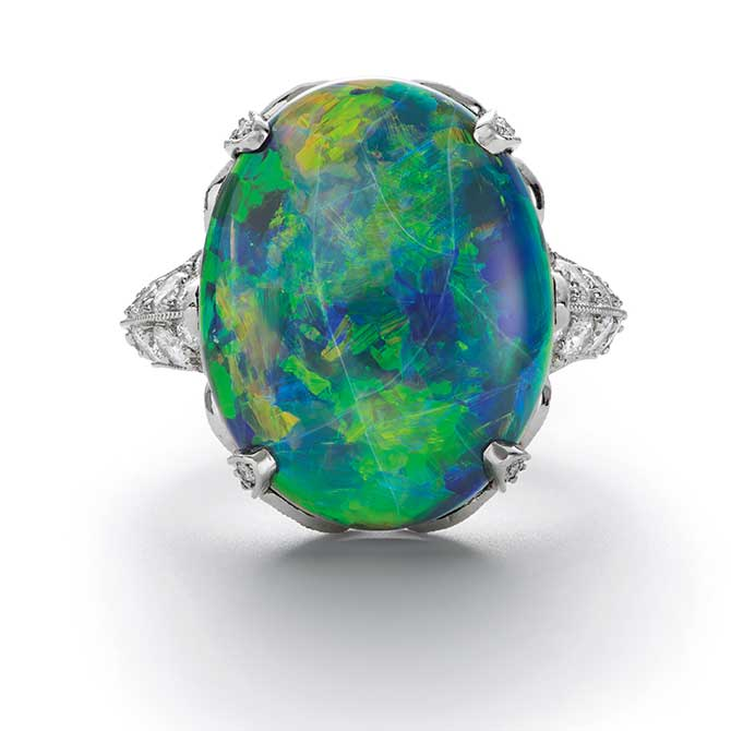 Phillips auction Tiffany opal ring