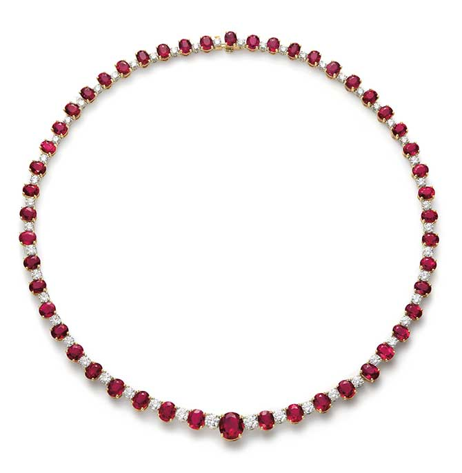 Phillips auction bulgari ruby necklace