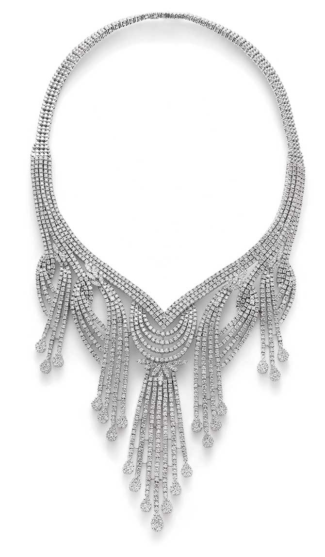 Phillips auction diamond necklace