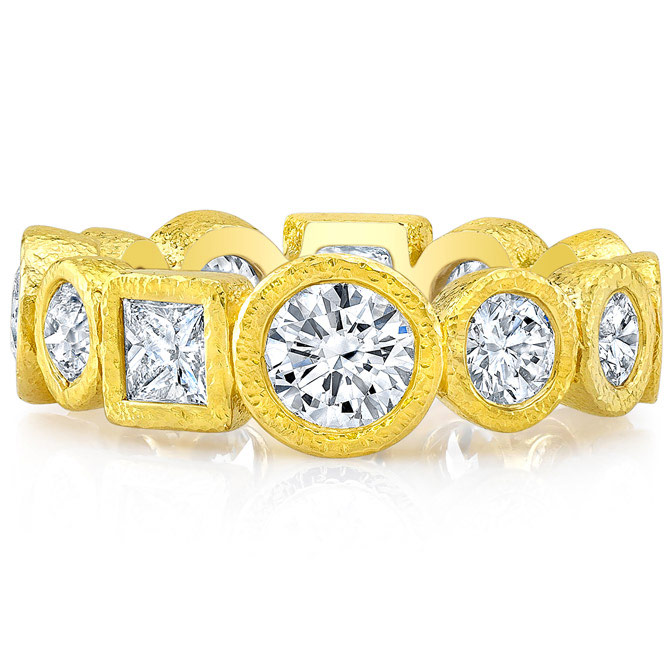 Dorian and Rose Deco diamond band