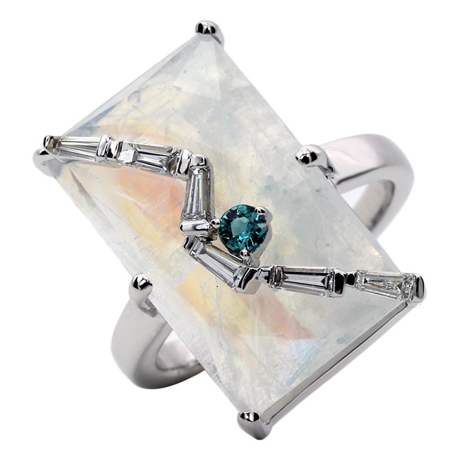 Laura Medine moonstone ring