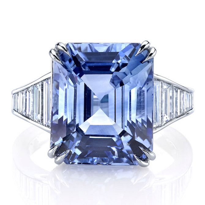 Omi Prive platinum sapphire ring