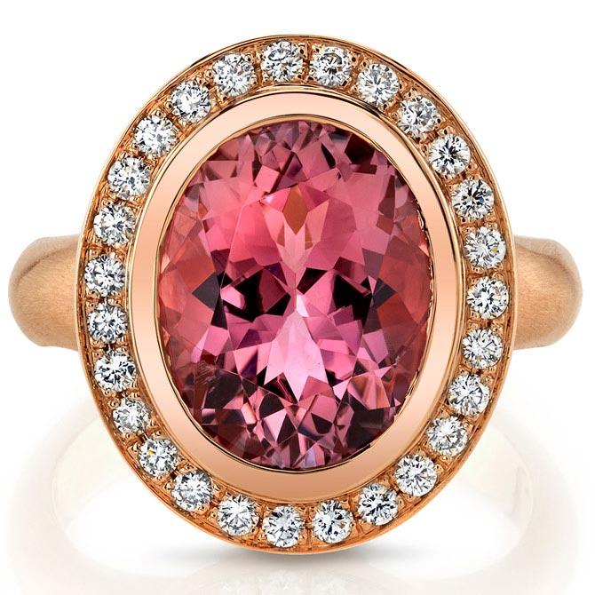 Omi Prive pink tourmaline and tanzanite ring