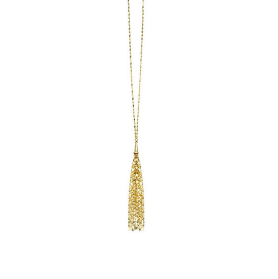Royal Chain gold tassel necklace