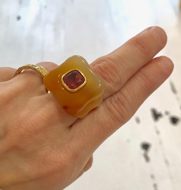 Rush Jewelry Design carnelian ring