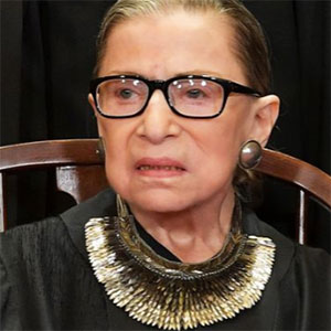 c106f4889 Supreme Court Justice Ruth Bader Ginsburg famously maintains a large  collection of collars, collar-like necklaces, and frilly jabots that she  uses to dress ...
