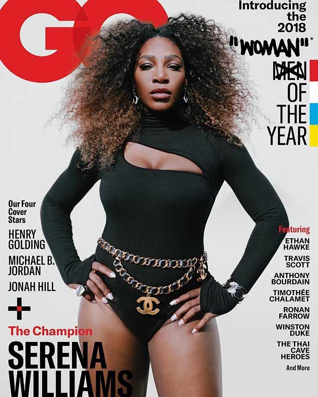 Serena Williams in David Webb on GQ cover