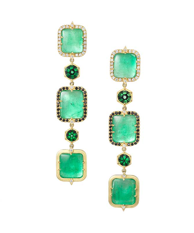 Spencer Fine Jewelry Muzo emerald earrings