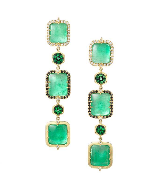 Spencer Fine Jewelry Muzo emerald earrings