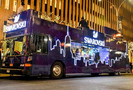 Swarovski pop-up bus