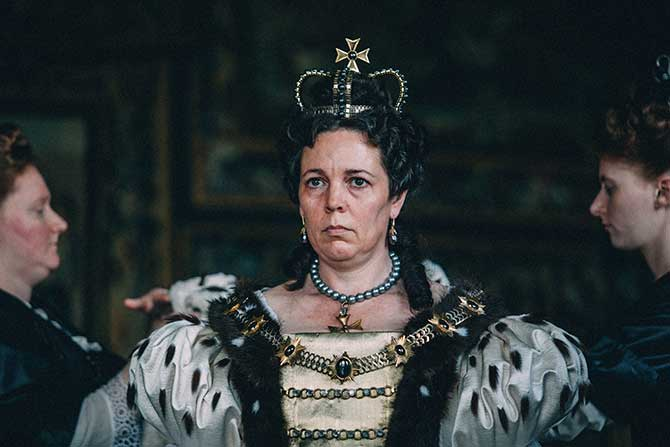 The Favourite starring Olivia Colman