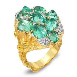 Victor Velyan Muzo emerald ring